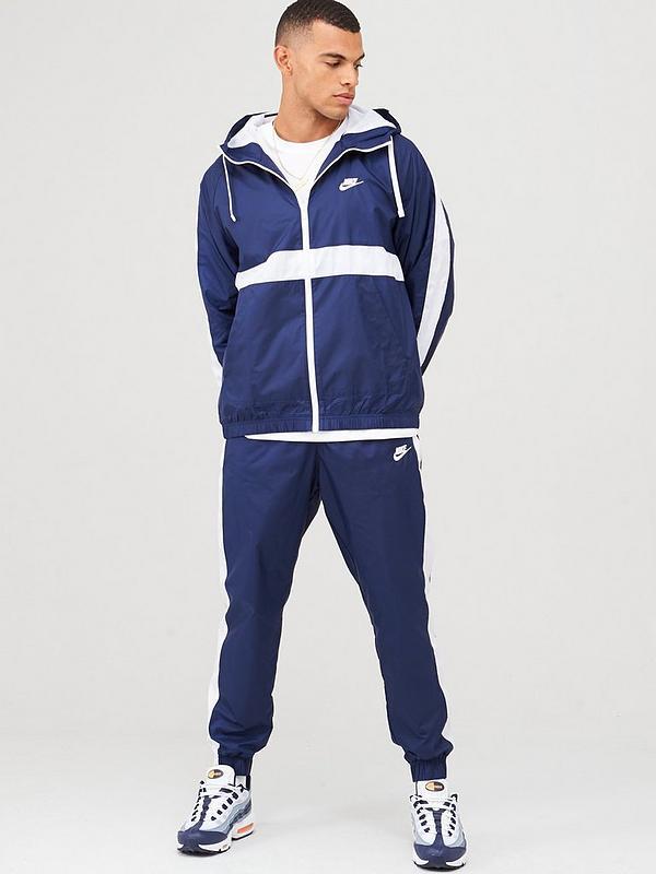 Sportswear Hooded Woven Tracksuit NavyWhite
