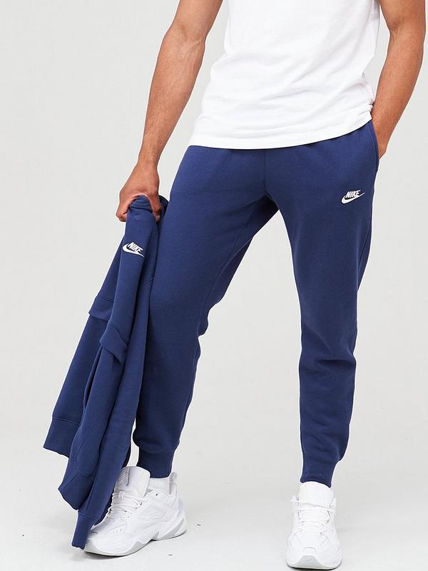 Abreviatura Explícito Carne de cordero  Nike Sportswear Club Fleece Joggers - Navy | very.co.uk