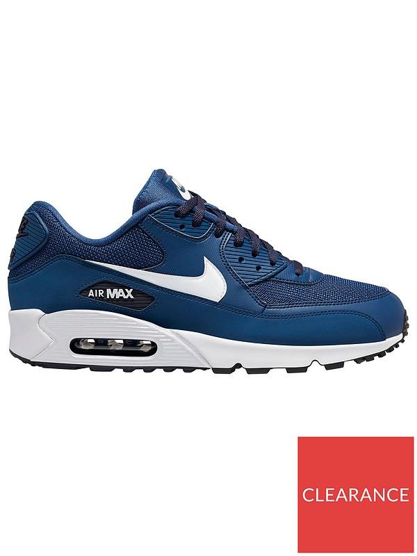 fuerte Facilitar Dificil  Nike Air Max 90 Essential - Blue/White   very.co.uk
