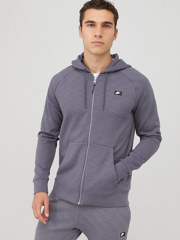 Sportswear Optic Full Zip Hoodie Charcoal