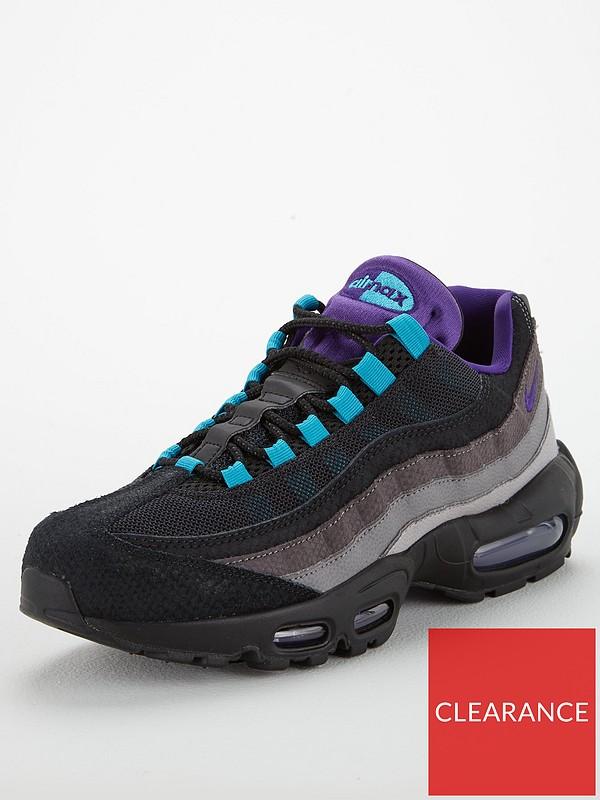 Fangoso Exactamente Pocos  Nike Air Max 95 LV8 - Black/Grey | very.co.uk