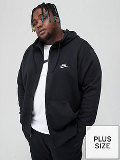 nike-sportswear-plus-size-club-fleece-full-zip-hoodie-black