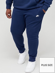 nike-sportswear-plus-size-club-fleece-joggers-navy