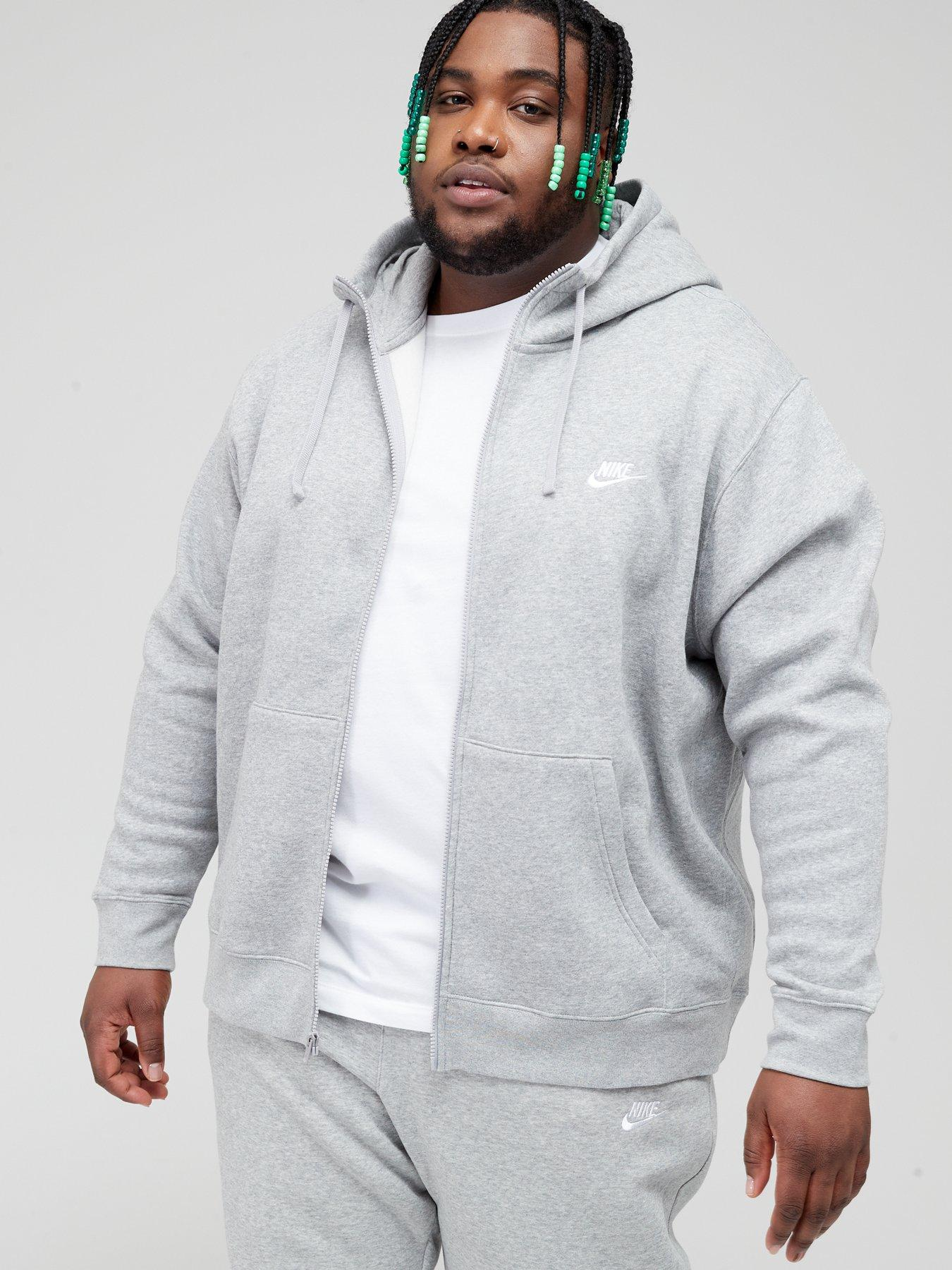Club Fleece Full Zip Hoodie - Dark Grey