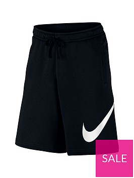 nike-sportswear-plus-size-club-fleece-logo-shorts-black