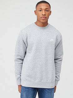 nike-sportswear-club-fleece-crew-neck-sweat-dark-grey