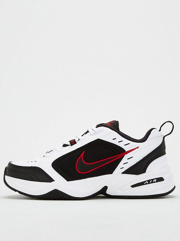Automáticamente repetir Esencialmente  Nike Air Monarch IV - White/Black/Red | very.co.uk