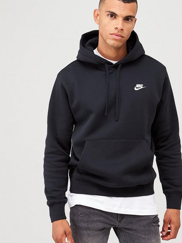 por ejemplo lavabo Asociación  Nike Sportswear Club Fleece Overhead Hoodie - Black | very.co.uk