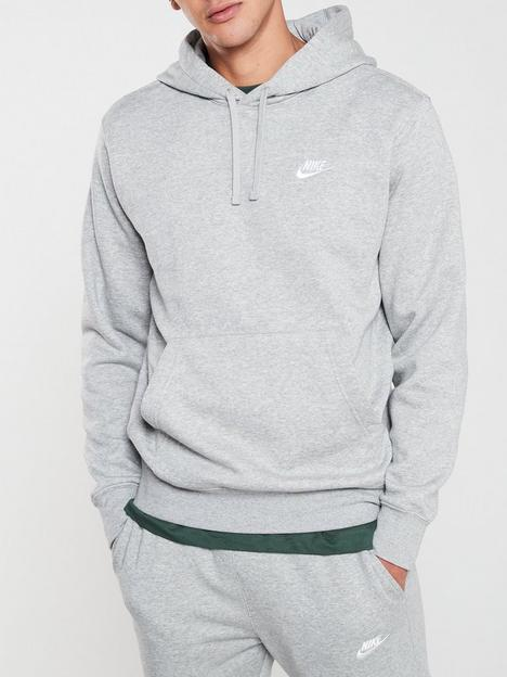 nike-sportswear-club-fleece-overhead-hoodienbsp--dark-grey