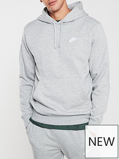 nike-sportswear-club-fleece-overhead-hoodienbsp--dark-grey