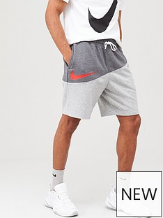 8cef1da70f304 Nike Sportswear Swoosh Colourblock Shorts - Grey/Dark Grey