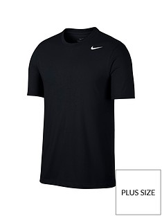 nike-plus-size-solid-crew-neck-t-shirt--nbspblack