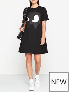 mcq-alexander-mcqueen-monster-t-shirt-dress-black
