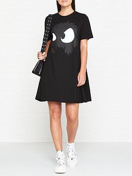 mcq-alexander-mcqueen-monster-t-shirt-dress-black
