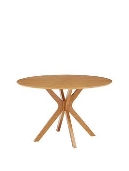 Product photograph showing New Starburst 120 Cm Round Dining Table