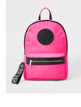 river-island-girls-neon-ri-backpack-pink