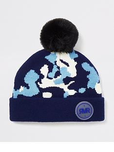 river-island-mini-mini-boys-camo-print-beanie-hat-blue