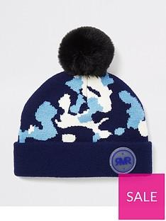 river-island-mini-mini-boys-camo-print-beanie-hat-blue