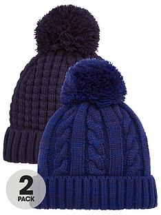 v-by-very-two-pack-bobble-hats-blue