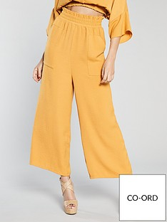 michelle-keegan-wide-leg-culotte-co-ordnbsp--mustard