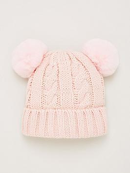 v-by-very-double-pom-pom-baby-hat-baby-pink
