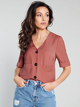 michelle-keegan-short-sleeve-utility-shirt-pink