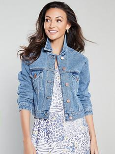 michelle-keegan-cropped-denim-jacket-blue