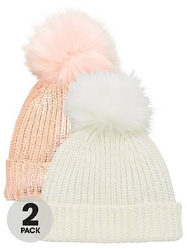 v-by-very-2-pack-bobble-hats-pinkcream