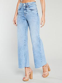 michelle-keegan-high-waist-wide-leg-denim-culottes-blue