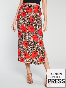 michelle-keegan-printed-midi-skirt-red-print