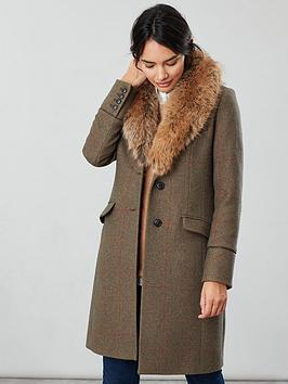 joules-langley-longline-coat-with-faux-fur-trim-green-tweed