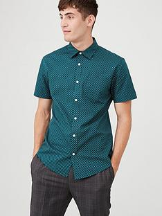 v-by-very-floret-print-shirt-teal