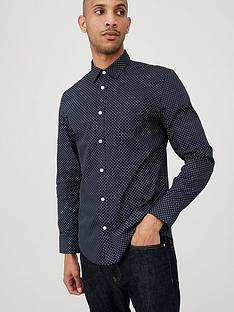 v-by-very-long-sleeved-floret-print-party-shirt-navy