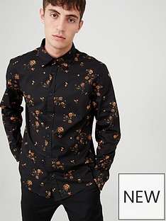 v-by-very-long-sleeved-floral-party-shirt-black
