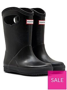 hunter-kids-first-classic-pull-on-wellington-boots-black