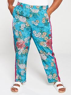 monsoon-curve-ola-oriental-print-trouser-teal