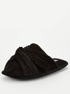 v-by-very-beau-twist-knot-mule-black