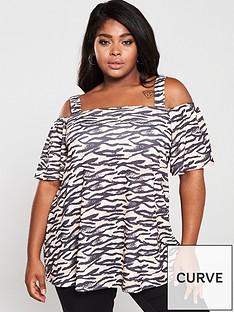 v-by-very-curve-zebra-cold-shoulder-top-print