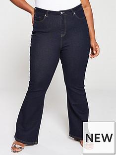 v-by-very-curve-kickflare-jeans-midwash