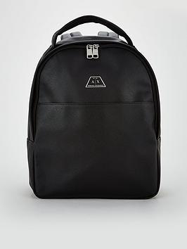 armani-exchange-backpack-black