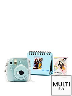 fujifilm-instax-fujifilm-instax-mini-9-ice-blue-camera-kit-withnbsp10x-macaron-film-glitter-case-amp-flip-album