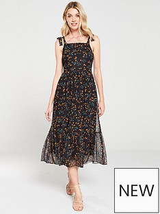 v-by-very-lemon-mesh-midi-dress-black