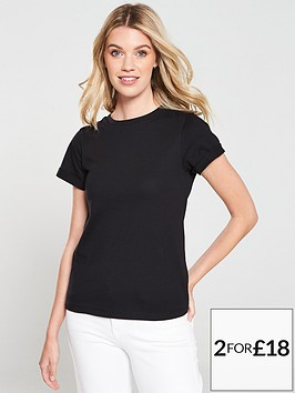 v-by-very-the-essential-rolled-sleeve-t-shirt-black
