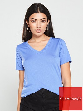 v-by-very-the-essential-v-neck-cupro-tee-blue