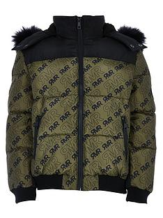 river-island-boys-ri-print-hooded-padded-jacket-khaki