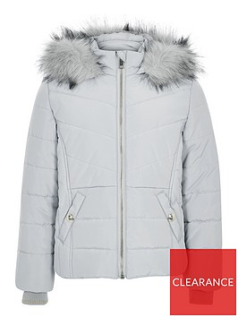 river-island-girls-faux-fur-hood-padded-jacket-grey
