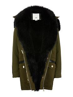 river-island-girls-faux-fur-trim-parka-jacket-khaki