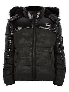 river-island-boys-black-camo-high-shine-padded-jacket