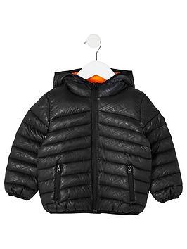 river-island-mini-mini-boys-printed-hooded-padded-jacket-black