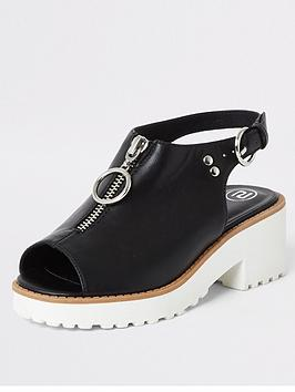 river-island-girls-zip-clumpy-sandals-black